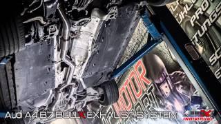 audi a4 b7 individual exhaust system sound bull x auspuff hg motorsport
