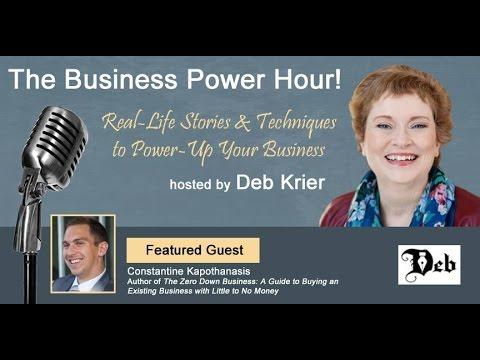Costa Kapothanasis Interview on MileHiRadio with Deb Krier - Zero Down Business