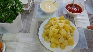 تحضير بطاطس برافا الاسبانية