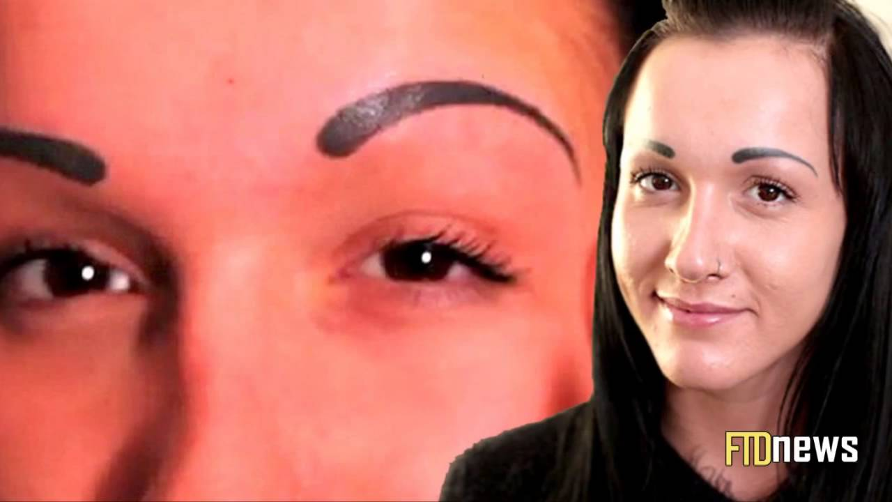 Pretty Girl Ruins Her Face With Eyebrows Tattoo Tattoo Fail Youtube