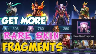 TRICKS TO COLLECT RARE FRAGMENTS FASTER AND BUY SKINS ON RARE FRAGMENT SHOP | MOBILE LEGENDS