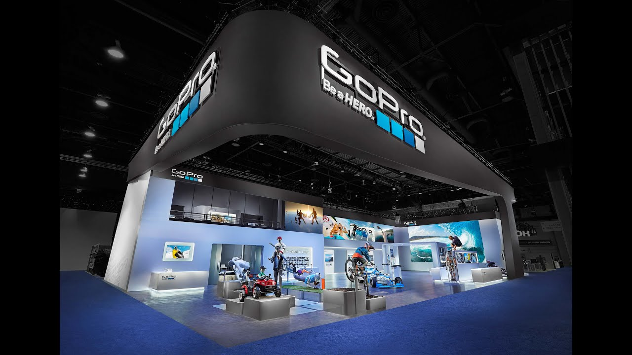 Exhibition Booth En Francais : Design fabrication of the massive gopro booth ces