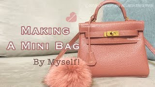 Making A Mini Bag By Myself, Inspired by Kelly in stitch, Leather Craft