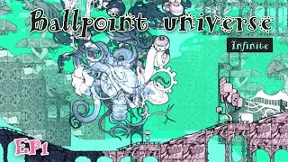 Ballpoint universe: infinite EP1 清新向彈幕遊戲