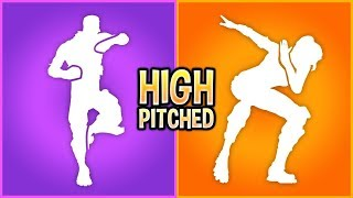These Fortnite Dances Sound So Much Better When High Pitched..!