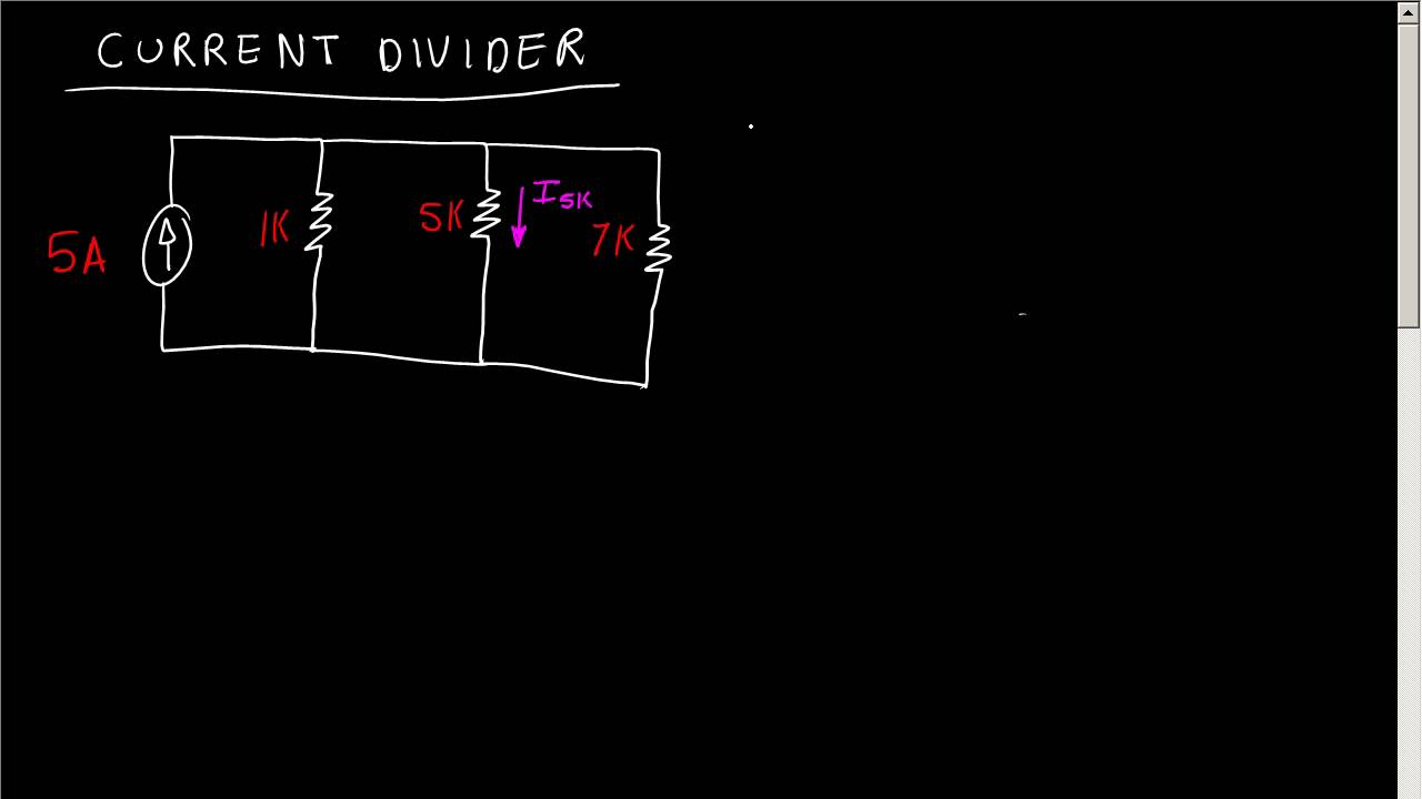 Current Divider Resistor Network Youtube Voltage Rule Circuit Example