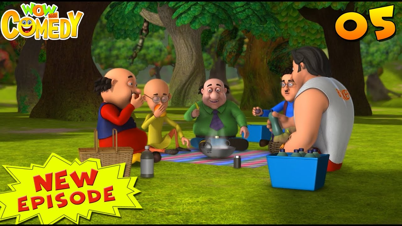 Motu Patlu Cartoon in Hindi | Picnic Party | S10 | New Cartoon | Hindi Cartoon