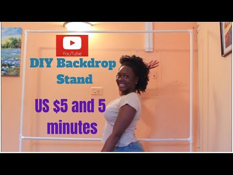 Budget Friendly DIY Backdrop Stand in 2019