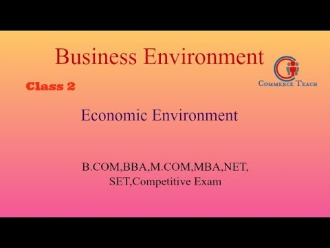 Economic Environment With MCQ (UGC NEt/ SET Commerce 2017 )(Hindi)