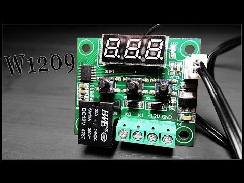 Терморегулятор Для Инкубатора W1209 DC 12V