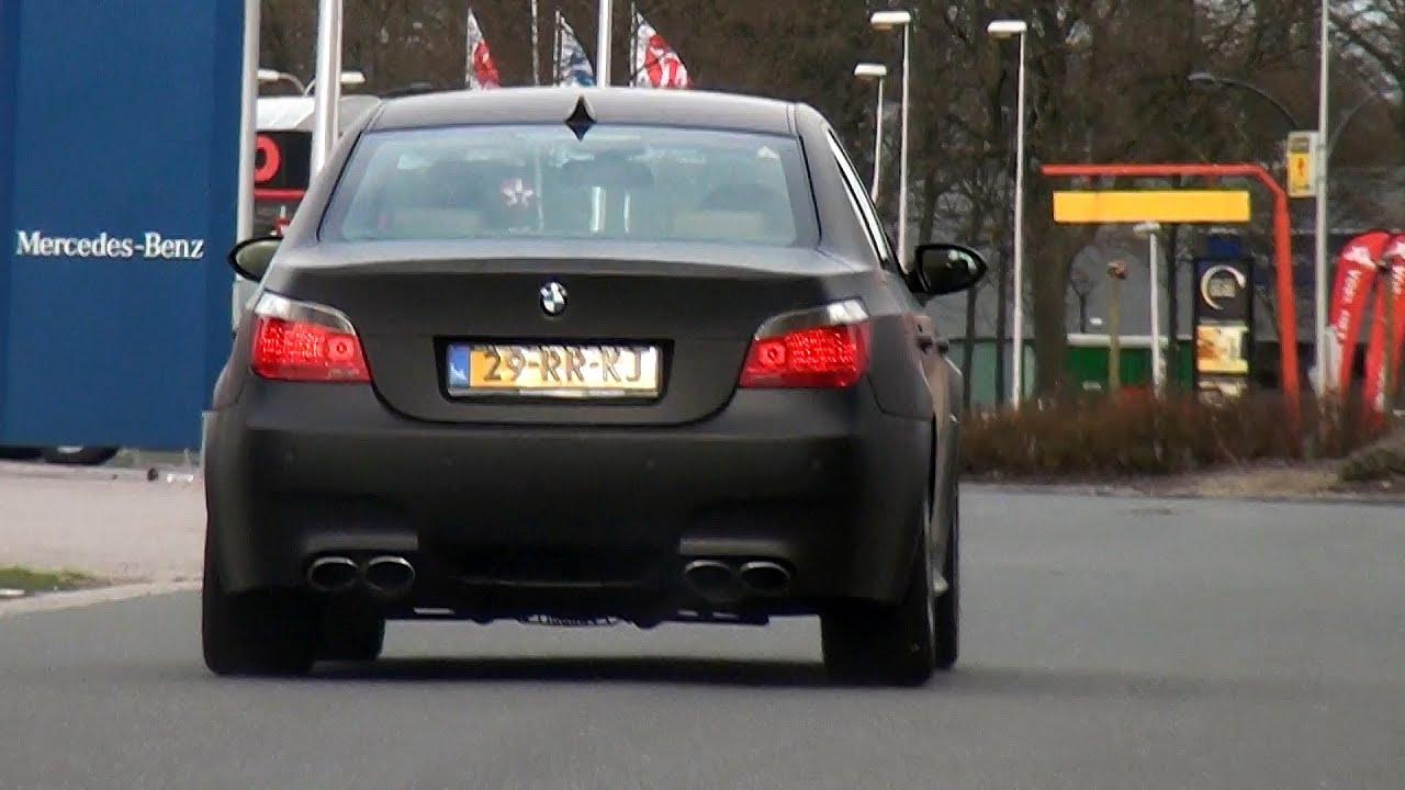 Matte Black BMW M5 E60 W Eisenmann Exhaust LOUD Sound