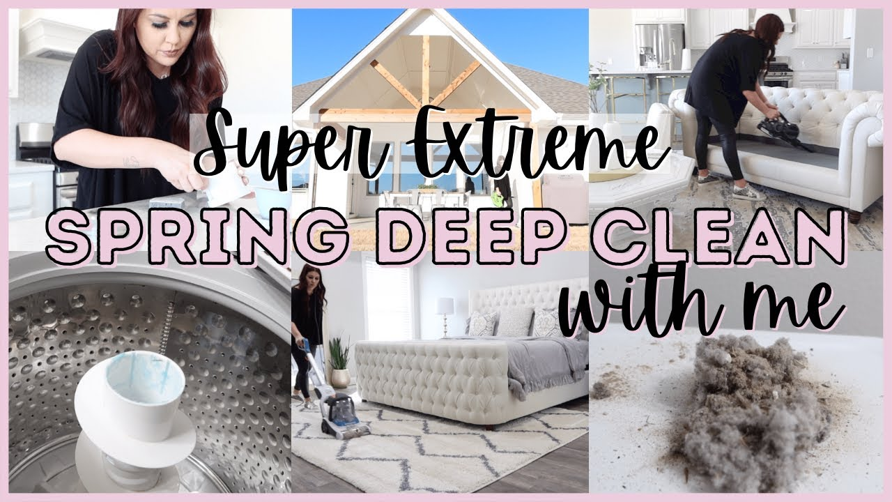 *SUPER* EXTREME SPRING DEEP CLEANING 2021 | NEW HOUSE DEEP CLEAN WITH ME | CLEANING ROUTINE