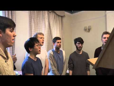 Newcastle University students rehearse medieval chant music from The Petre Gradual