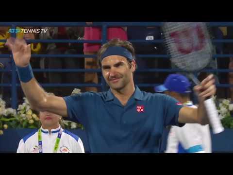 Roger Federer Best Shots In Win Over Kohlschreiber   Dubai 2019