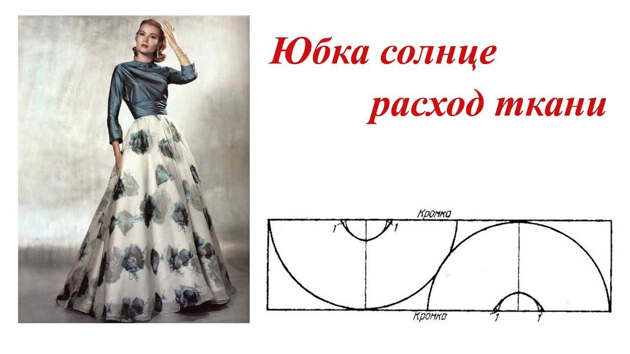 Как сшить из ткани юбку для фото 397