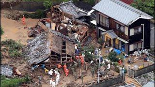 Catastrophic Japan landslide Typhoon Maria strikes