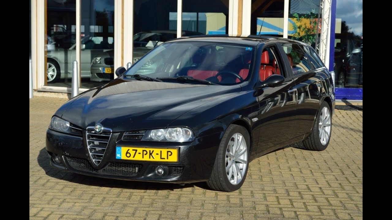 67 pk lp alfa romeo 156 sportwagon 2 4 jtd sportleder clima youtube. Black Bedroom Furniture Sets. Home Design Ideas