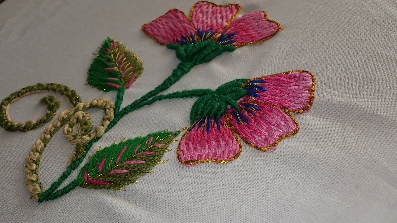 Hand embroidery designs stitches tutorial
