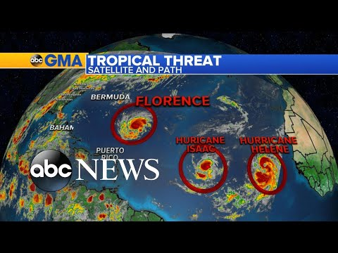 Hurricane Florence gains strength as it takes aim at East Coast