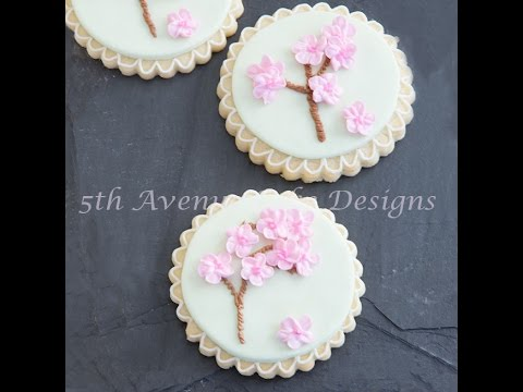 Royal Icing Cherry Blossom Tree Cookies