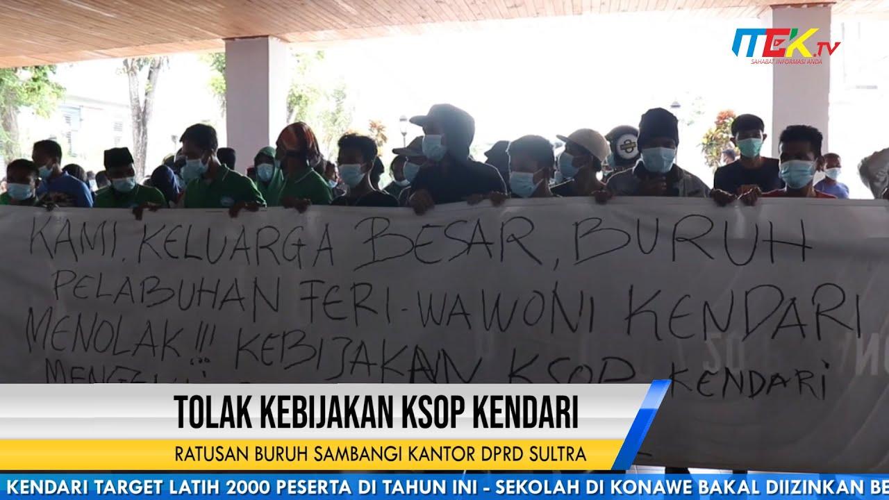 Tolak Kebijakan KSOP Kendari, Ratusan Buruh Sambangi Kantor DPRD Sultra