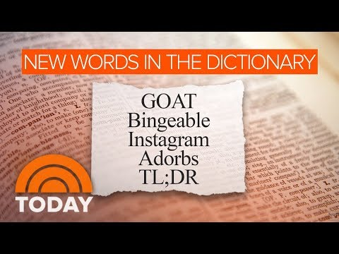 GOAT,' 'Adorbs' Among Merriam-Webster Dictionary's New Words