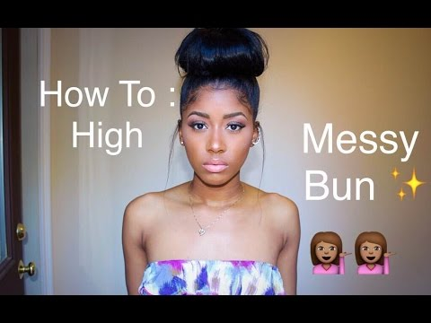 How To High Messy Bun With Clip In Hair Extensions Raquelbianka
