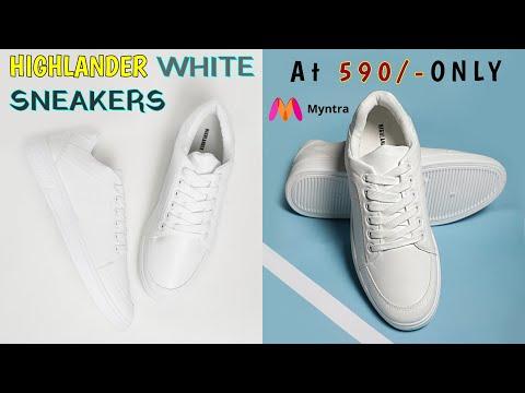 Highlander White Sneaker At 590/- Only