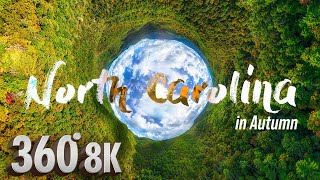 Fly Above Blue Ridge Mountains in 360°  A Meditation VR Experience of North Carolina in Autumn
