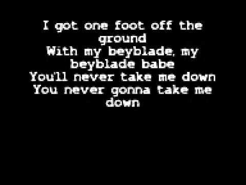 Beyblade Never Gonna Take Me Down Lyrics