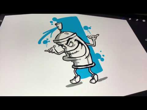 Drawing a Spraycan Character