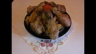 Картошка с курицей запеченная в рукаве. Быстрый ужин