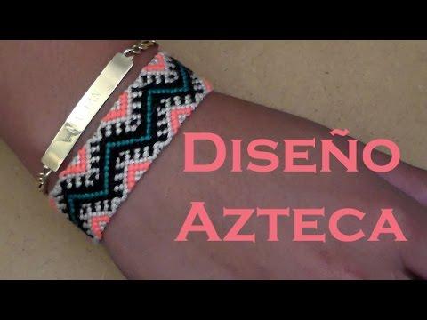 13ef7743a20e Pulsera de Hilo: Diseño Azteca