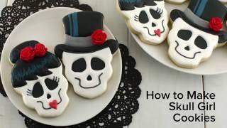 How to Make Skull Girl Cookies