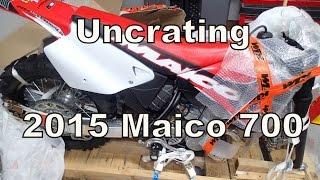 Uncrating a 2015 Maico 700 2-Stroke