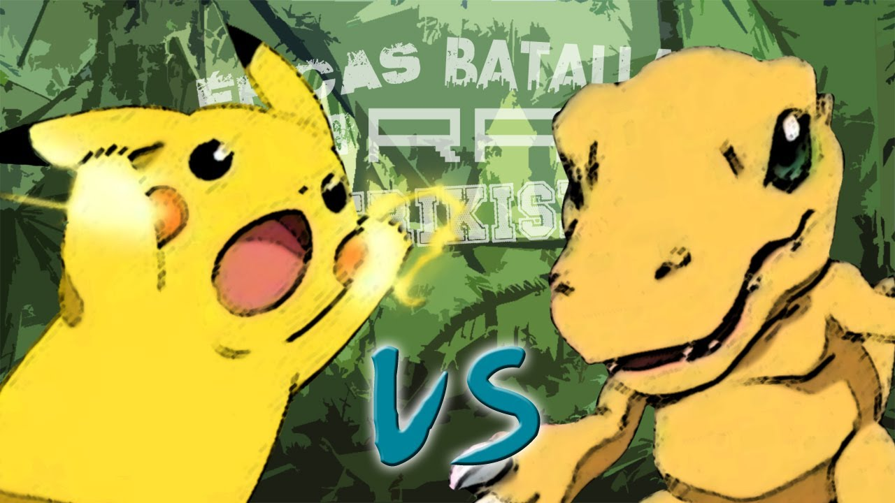 Pikachu vs Agumon. Épicas Batallas de Rap del Frikismo   Keyblade ...