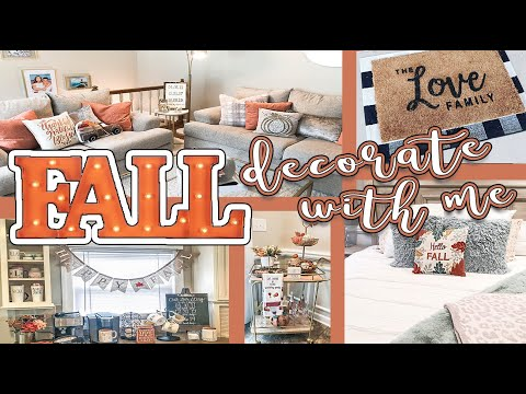 FALL DECORATE WITH ME 2019