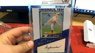 2019 Historic Autographs Originals 1934 Baseball Box ID HAO1934RC105