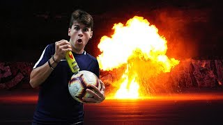 *EXPERIMENT* INFLATE A SOCCER BALL WITH GAS *EXPLOSION*