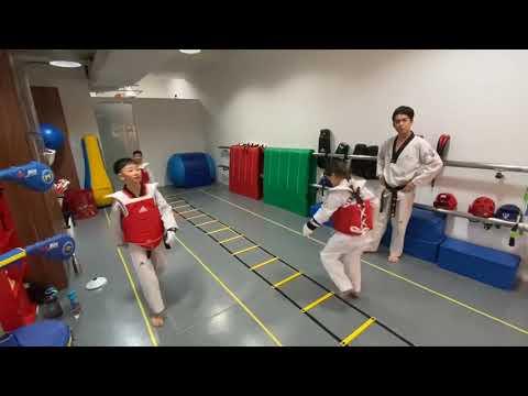 Taekwondo Sparring footwork training
