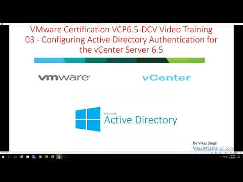 vmware-certification-vcp-6.5---03-configuring-active-directory-authentication-for-vcenter-server