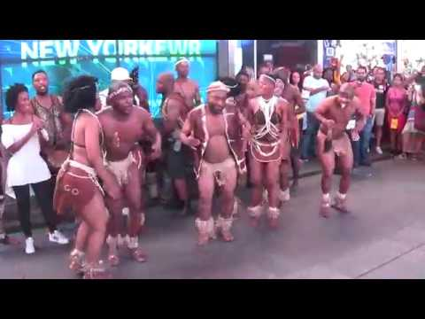 Botswanan Dance Group Mophato in Times Square