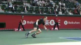 Andy Murray Shows Off Hot Shot Defense In Tokyo
