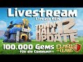 [494]🔴Update Livestream Rathaus 12 | 100.000 Gems | Youtuber in Action | Clash of Clans Deutsch COC