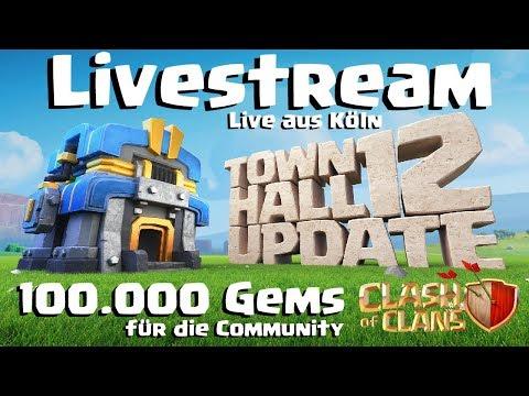 [494]🔴Update Livestream Rathaus 12 | 100.000 Gems | Youtuber in Action | Clash of Clans Deutsch COC