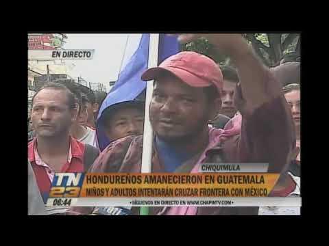 Caravana de hondureños amaneció en Guatemala