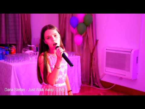 Celine Dion - Just walk away ( Covered by Daria Stefan 11 yo ) - LIVE