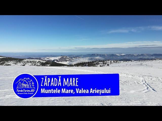 Zăpadă mare pe Muntele Mare