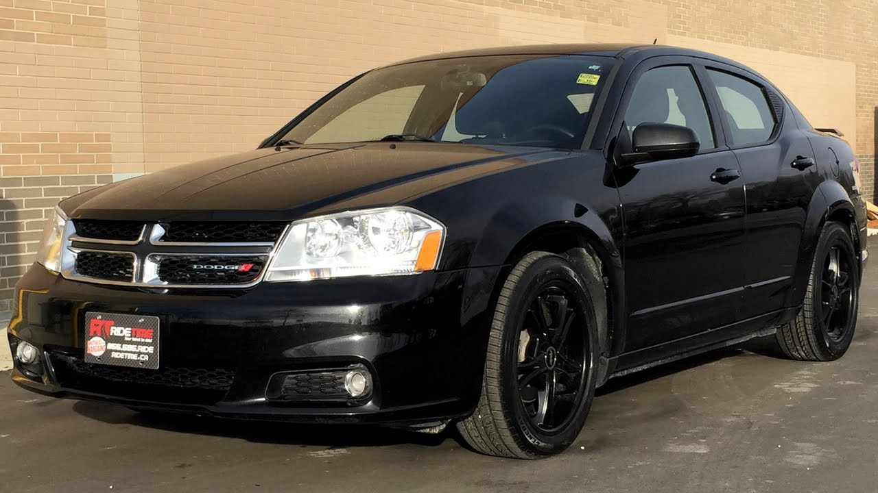 2012 Dodge Avenger Sxt Sunroof Black Alloy Wheels