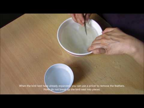 How To Prepare Bird's Nest (燕窝)  Singapore